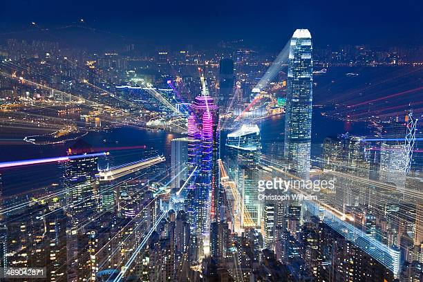 Hongkong twilight zoom