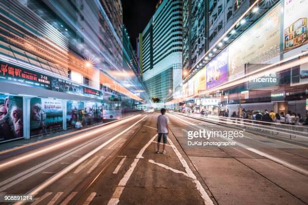 hongkong young people - straßenlaterne stock-fotos und bilder