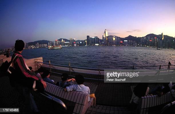 Hongkong/China Asien Reise Skyline von Hongkong beiNacht