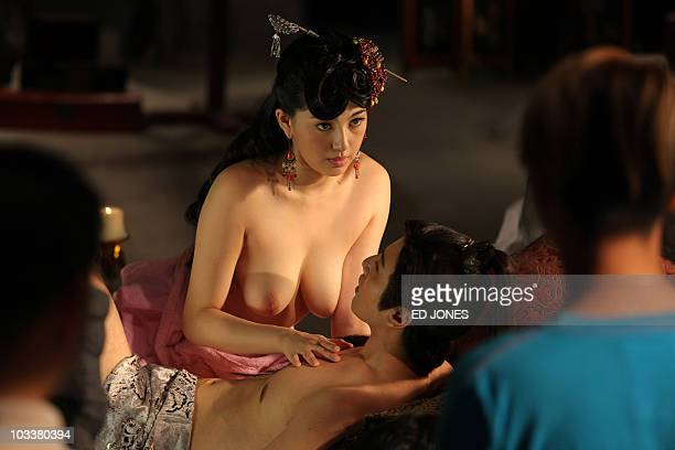 STORY 'HongKongJapanChinafilmpornographyFOCUS' by Peter Brieger Adult video actress Saori Hara and actor Hiro Haayana of Japan perform for the camera...