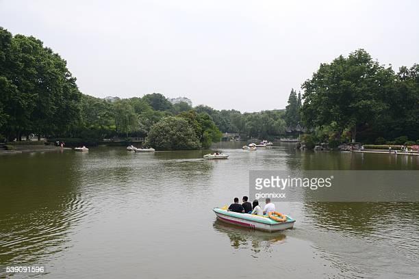 hongmei park, changzhou, jiangsu province, china - changzhou stock pictures, royalty-free photos & images