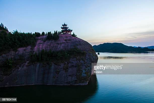 hongmen lake in nanchen fuzhou city, jiangxi province - fuzhou stock pictures, royalty-free photos & images