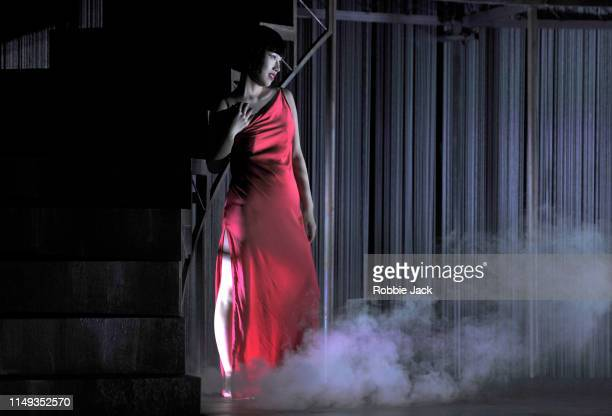 Hongni Wu as Phaedra in The Royal Opera's production of Hans Werner Henze's Phaedra directed by Noa Naamat and conducted by Edmund Whitehead at The...