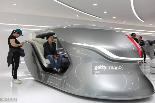 Hongqi concept car is on display during the Auto China 2018 at China International Exhibition Center on April 25 2018 in Beijing China Auto China...