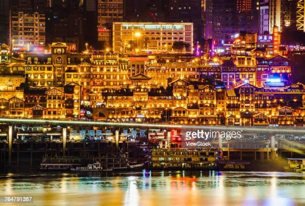 Hongyadong block night of Chongqing City,China