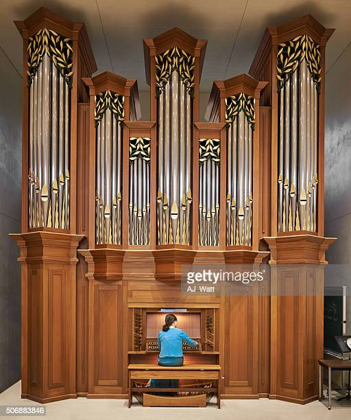 honing her skill - church organ stock pictures, royalty-free photos & images