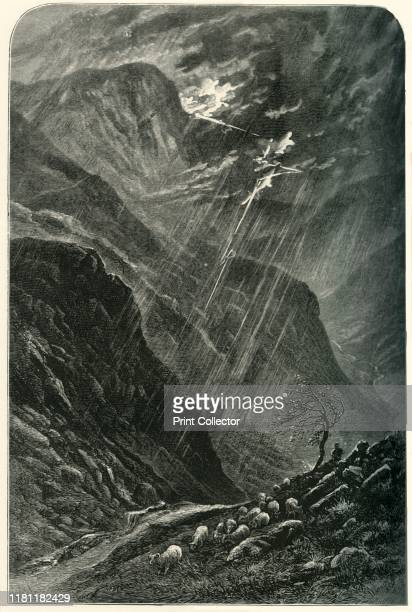 Honister Crag and Pass' circa 1870 Honister Crag a fell in the Lake District of Cumbria is a Site of Special Scientific Interest Honister Pass has...
