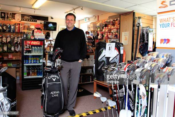 Honiton Club Professional Adrian Cave poses for a photograph in his shop during the Powerade PGA Assistants' Championship regional qualifier played...