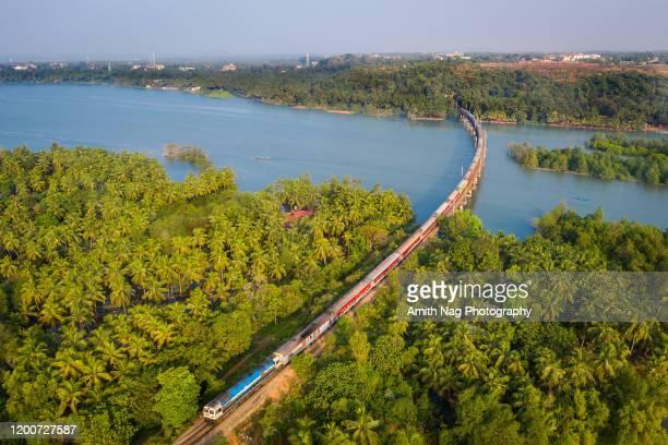 honnavar railway bridge - rail transportation stock pictures, royalty-free photos & images