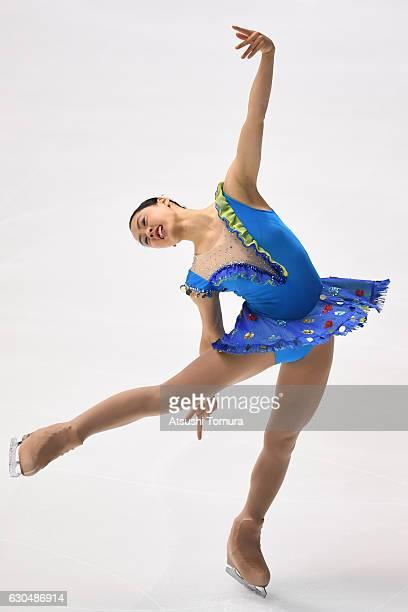 Honoka Hirotani of Japan competes in the Ladies short program during the Japan Figure Skating Championships 2016 on December 24 2016 in Kadoma Japan
