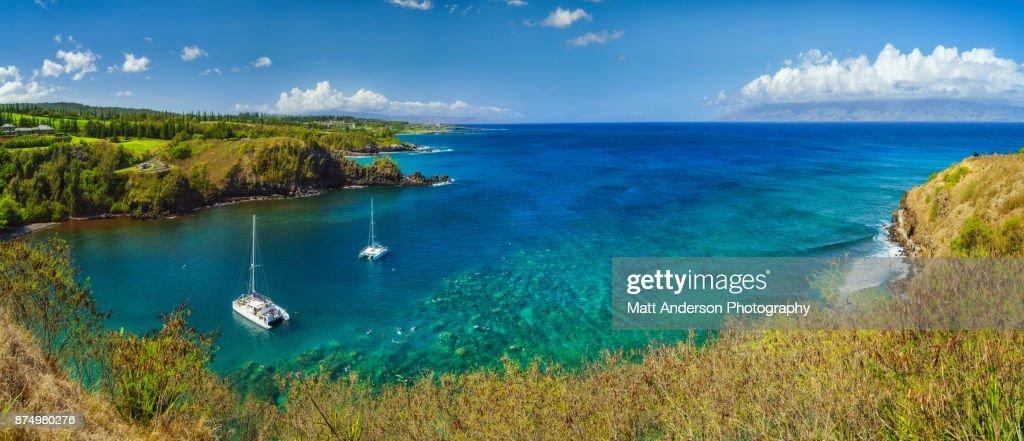 Honolua - Mokuleia Bay Scuba Snorkling : Stock Photo