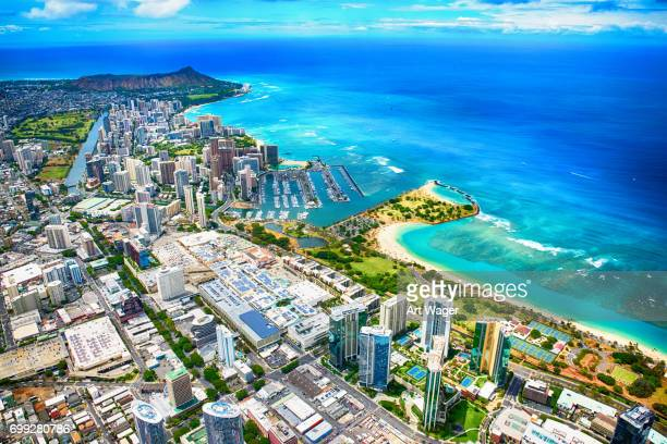 Honolulu Hawaii Wide Angle Aerial
