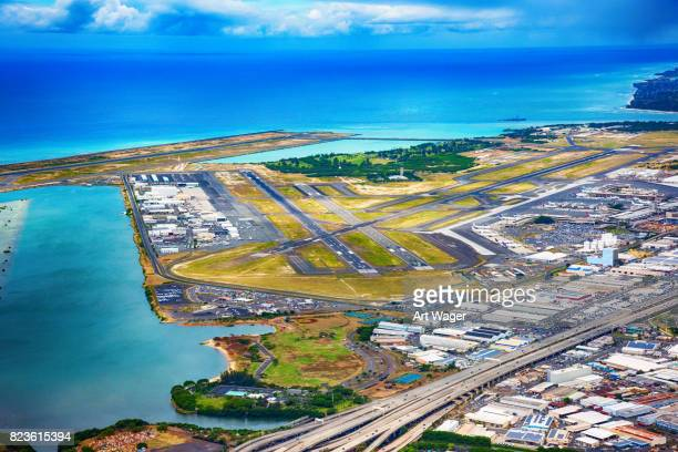 honolulu international airport - pacific islands stock pictures, royalty-free photos & images