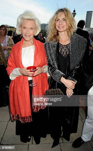 Honor Blackman and Maryam d'Abo attend the The Great British Movie Event in aid of the National Film and Television School at the Old Billingsgate on...