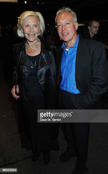 Honor Blackman and Nicholas Grace attend the Gala Night of 'Calendar Girls' at the Noel Coward Theatre on April 20 2009 in London England