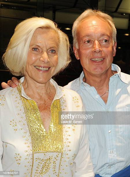 Honor Blackman and Nickolas Grace attend the press night for The Railway Children at The Waterloo Station Theatre on July 12 2010 in London England