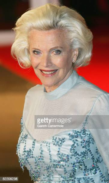 Honor Blackman arrives at the UK Premiere of Shall We Dance at the Odeon West End on February 16 2005 in London