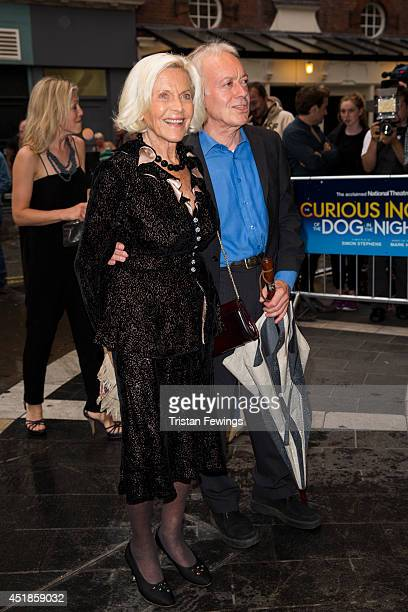 Honor Blackman attends the press night for The Curious Incident Of The Dog In The NightTime at Gielgud Theatre on July 8 2014 in London England