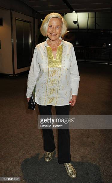 Honor Blackman attends the press night for The Railway Children at The Waterloo Station Theatre on July 12 2010 in London England