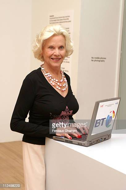 Honor Blackman during Honor Blackman Launches Let's Play 66 An Online Quiz To Test Your Knowledge Of The Swinging Sixties at Tate Britain in London...