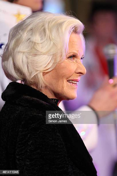 Honor Blackman seen on January 8 2014 in London England