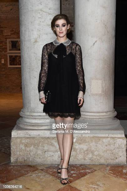 Honor Byrne attends Miu Miu Women's Tales Dinner during Venice Film Festival on September 2 2018 in Venice Italy