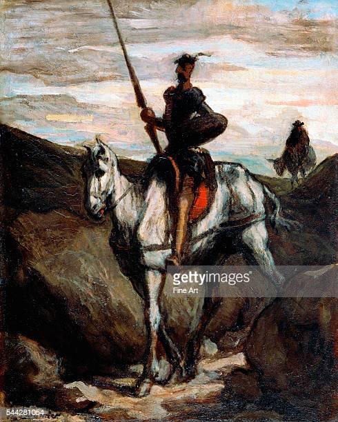 Honoré Daumier Don Quixote in the Mountains c 1850 oil on panel 396 x 312 cm Bridgestone Museum of Art Tokyo Japan