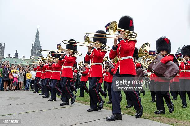 Honor Guard Band Marching at the Parliament of Canada