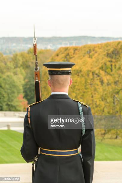 Honor guard, Tomb of the Unknown Soldier, Arlington National Cemetery, Virginia, USA