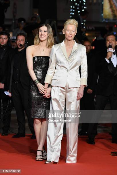 """Honor Swinton Byrne and Tilda Swinton arrive the screening of """"Parasite"""" during the 72nd annual Cannes Film Festival on May 21, 2019 in Cannes,..."""
