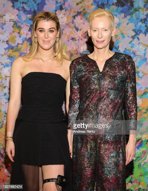 """Honor Swinton Byrne and Tilda Swinton attend """"The Souvenir Part 2"""" screening during the 74th annual Cannes Film Festival on July 08, 2021 in Cannes,..."""