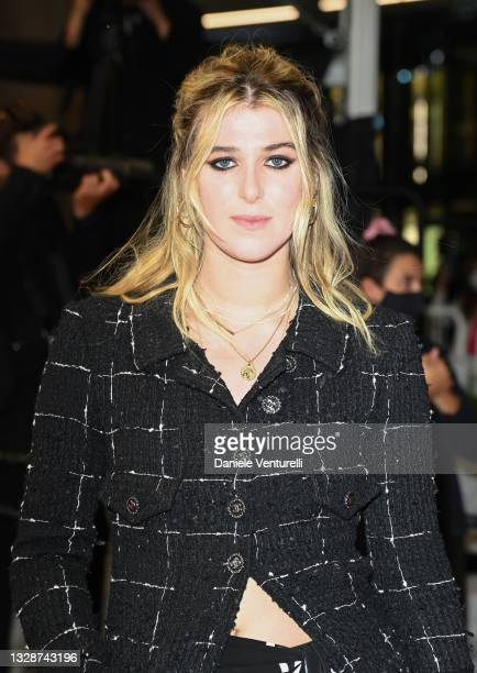"""Honor Swinton Byrne attends the """"Les Olympiades """" screening during the 74th annual Cannes Film Festival on July 14, 2021 in Cannes, France."""