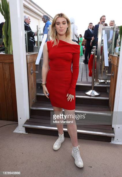 """Honor Swinton Byrne attends the """"Memoria"""" after Party during the 74th annual Cannes Film Festival on July 15, 2021 in Cannes, France."""