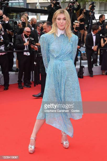 """Honor Swinton Byrne attends the """"The French Dispatch"""" screening during the 74th annual Cannes Film Festival on July 12, 2021 in Cannes, France."""