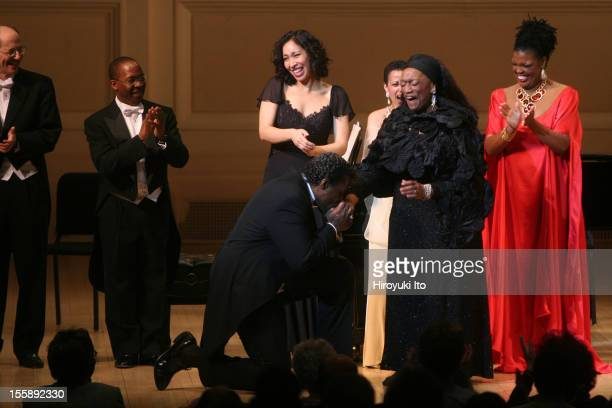 'Honor The Voice' at Carnegie Hall on Monday night March 23 2009This imageGregg Baker got on his knee and kissed a hand of Jessye Norman in curtain...