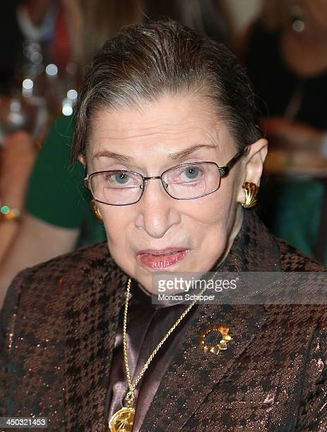 Honorable Ruth Bader Ginsburg Associate Justice of Supreme Court of the United States attends Richard Tucker Music Foundation's 38th annual gala at...