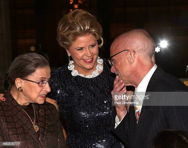 Honorable Ruth Bader Ginsburg Associate Justice of Supreme Court of the United States Susan Graham and Michael Chertoff attend Richard Tucker Music...