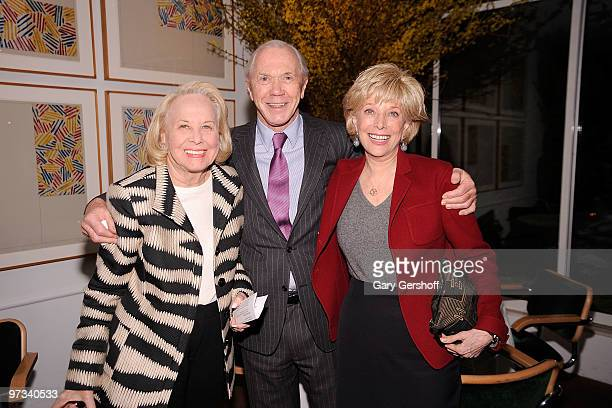 Honoraray Chair Liz Smith Chairman Literacy Partners Peter Brown and television journalist Leslie Stahl attend the Literacy Partners 26th annual...