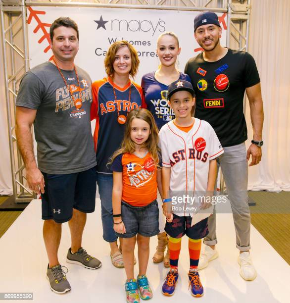 Honorary Astros player wish kid Cameron and his family join Carlos Correa and fiance Daniella Rodriguez at a Macy's Houston Galleria meet and greet...