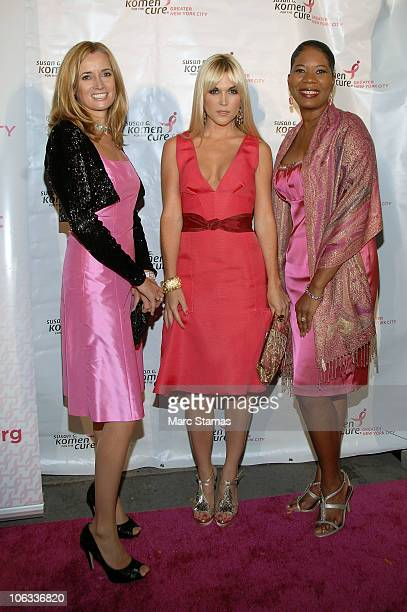 Honorary Blythe Masters Tinsley Mortimer and Dr Dara Richardson attend the 20th Anniversary Pink Soiree Gala at Intrepid SeaAirSpace Museum on...