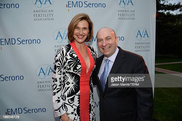 Honorary board member and cochair of the American Fertility Association actress Brenda Strong and Craig Millian Senior Vice President Head of US...