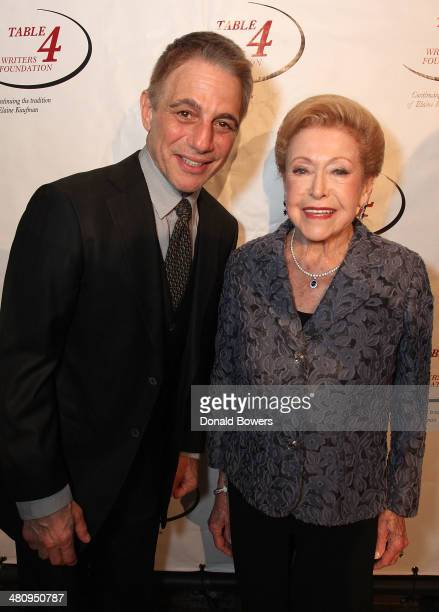 Honorary Chair and actor Tony Danza and Literary Achievement Award recipient Mary Higgins Clark attend the Table 4 Writers Foundation Second Annual...