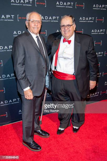 Honorary Chair Marty Hausman and CEO of ADAPT Community Network Edward R Matthews attend the 2019 Adapt Leadership Awards at Cipriani 42nd Street on...