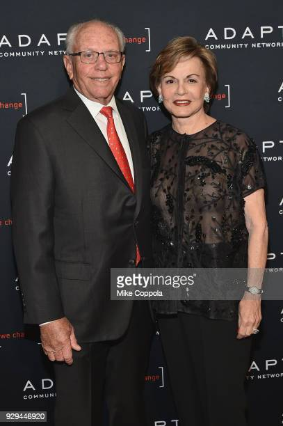 Honorary Chair Marty Hausman and Elaine Hausman attend the Adapt Leadership Awards Gala 2018 at Cipriani 42nd Street on March 8 2018 in New York City