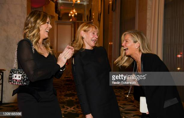 Honorary chair Rita Wilson, honorary chair Kate Capshaw, and WCRF co-founder Kelly Chapman Meyer at The Women's Cancer Research Fund's An...