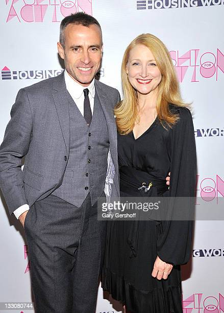 Honorary Chair Thom Browne and co-chair Patricia Clarkson attend Housing Works Fashion for Action Opening Night Benefit at Altman Building on...