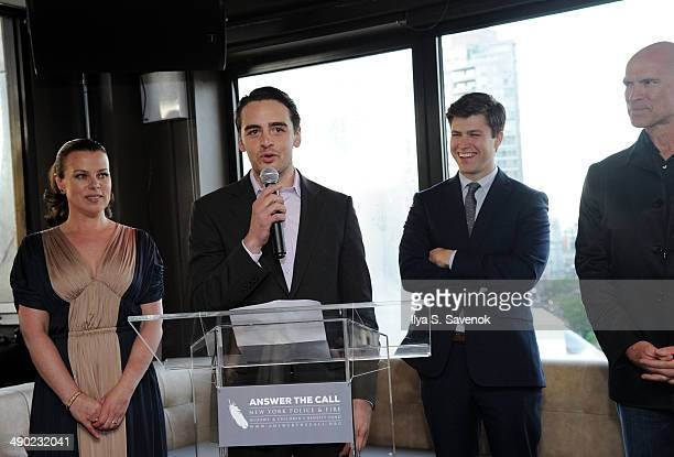 Honorary Chairs Vincent Piazza Deborah Mazar Colin Jost and Mark Messier attend the 2nd Annual New York Police Fire Widows' Children's Benefit Fund...