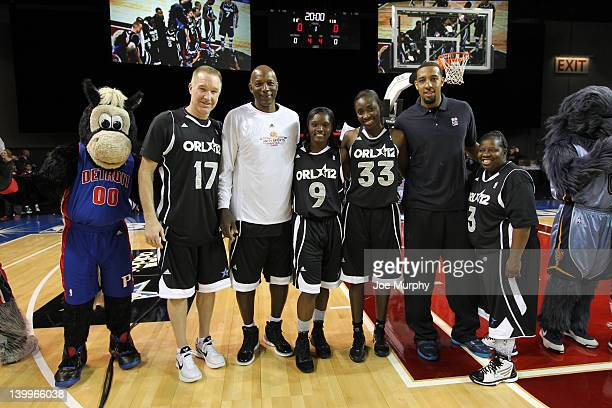 Honorary Coach Derrick Williams of the Minnesota Timberwolves Sophia Young of the San Antonio Silver Stars Marie FerdinandHarris of the Phoenix...