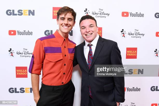 Honorary CoChair Connor Franta and Danny Charney at the 2017 GLSEN Respect Awards at the Beverly Wilshire Hotel on October 20 2017 in Los Angeles...