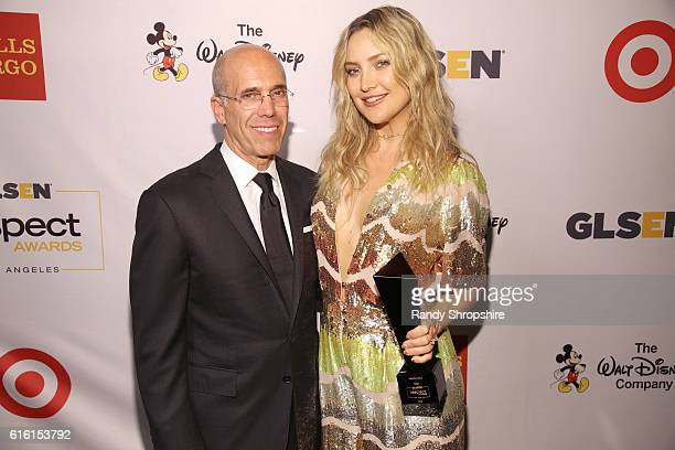 Honorary CoChair Jeffrey Katzenberg and Honoree Kate Hudson attend the 2016 GLSEN Respect Awards Los Angeles at the Beverly Wilshire Four Seasons...